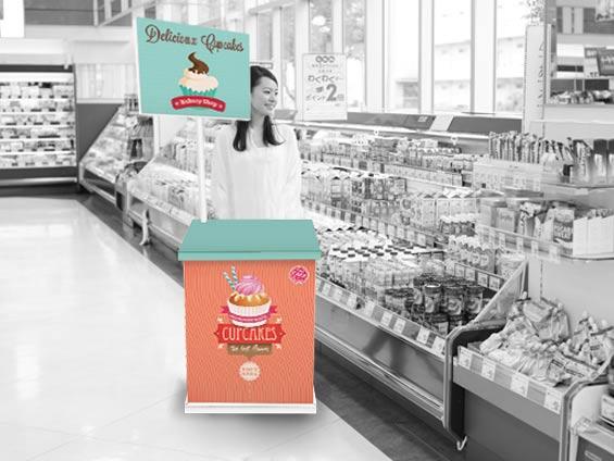 Stand de d gustation imprim s et personnalis s en carton for Stand de degustation