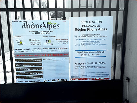 Panneaux et palissades de chantier imprimer et personaliser 123panneaux - Panneau affichage declaration prealable ...